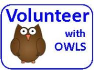 'Volunteer with OWLS' graphic
