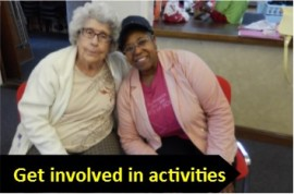 Get involved in activities graphic