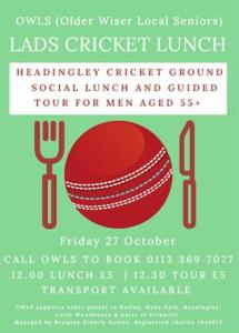 Lads cricket lunch poster